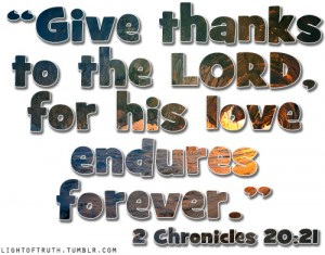 Give Thanks to the Lord - St Stephens Church
