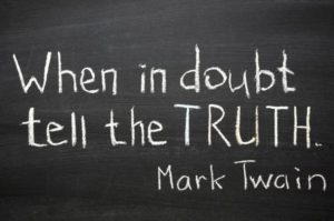 Tell-The-Truth-Day-Church Chalkboard with writing. ©iStockphoto.com/yuriz