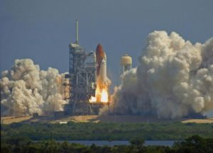 Space-Exploration-Day-Church Space shuttle launch from Kennedy Space Center. ©bigstockphoto.com/kjwarden